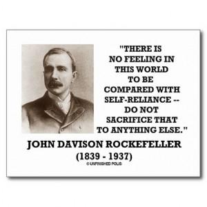 Rockefeller exemplified self-reliance.