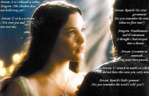 Arwen: Waters of the Misty Mountains Listen to the great word; Flow ...