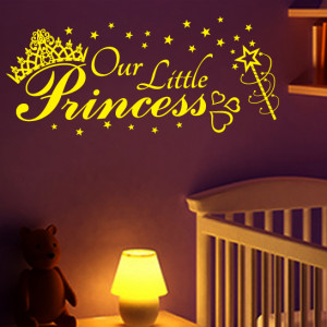 OUR LITTLE PRINCESS quote wall sticker decal kids baby girls nursery ...