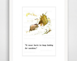 Matted, Winnie the Pooh, Inspirational Quote Print, Winnie the Pooh ...