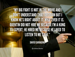 My big fight is not in the movie and I don't understand that decision ...