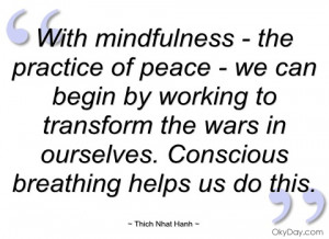 with mindfulness - the practice of peace - thich nhat hanh