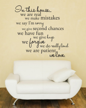 ... In This House We Do Wall Decal Sticker * | The Block Shop - Channel 9
