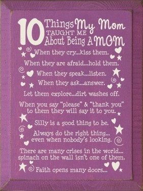 funny mothers day kind quotes mom sayings momtaught mom taught 10 ...