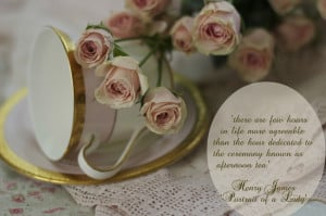 loved pairing these roses with teacups in similar shades. It seemed ...