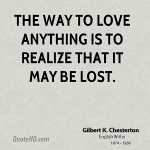 Gilbert K. Chesterton Love Quotes