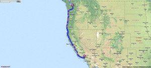 Driving Directions from Seattle, Washington to Los Angeles, California ...