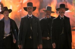 ... Bill Paxton), and Wyatt Earp (Kurt Russell) in Tombstone movie (1993
