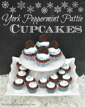 York Peppermint Pattie Cupcakes