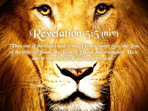 """Then one of the elders said to me, """"Do not weep! See, the Lion of ..."""