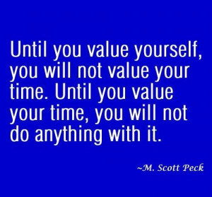 Value yourself quote