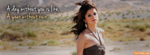 year without Rain - Selena Gomez Facebook Cover