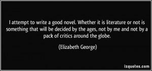 More Elizabeth George Quotes
