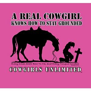 Cowgirl Knows How to Stay Grounded T-Shirt