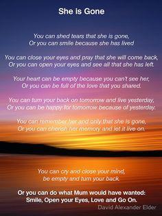 ... mum by david alexander elder more funeral poem for mom quotes living