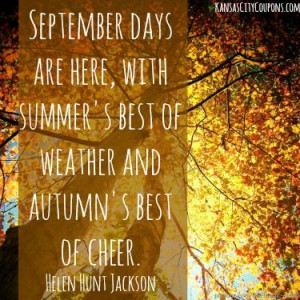 Fall Quotes And Sayings The first of september