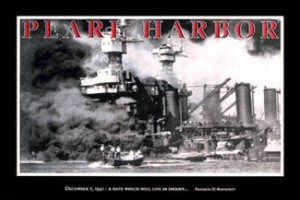 Pearl Harbor INFAMY Poster - December 7, 1941, USS West Virginia, FDR ...
