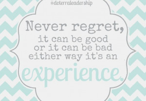 experience #regret #bepositive #doterra #doterraleadership