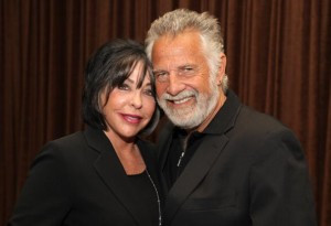 Jonathan Goldsmith (R) and his wife Barbara (Angela Weiss/Getty Images ...