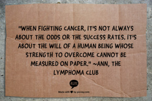 Fighting Cancer: The Will of a Human Being