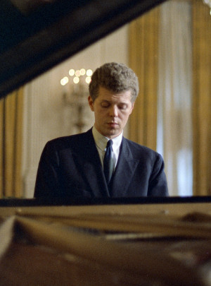 Van Cliburn at the White House in 1968. (LBJ Library Photo)