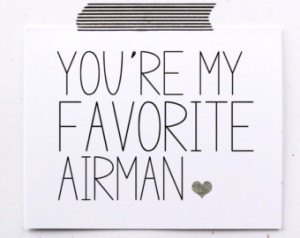 Military greeting card Favorite Air man Air force card You are my ...
