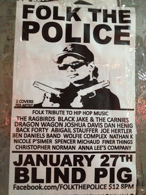 ... folk bands as they cover gangsta rap this Sunday at the Blind Pig
