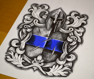 Spartan Shield Tattoo Meaning Police tattoo design download