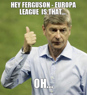 HEY FERGUSON - EUROPA LEAGUE IS THAT..., OH...