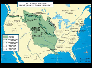 Map Showing The Territory Louisiana Purchase