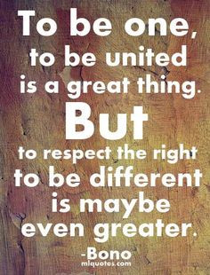 ... right to be different is maybe even greater.