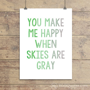 You Make Me Happy Wall Quotes™ Giclée Art Print Green