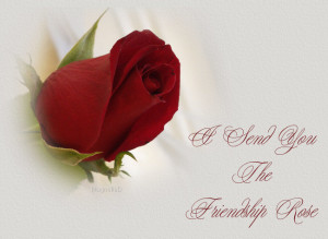 Friendship Rose Cards, Friendship Day Rose Wishes
