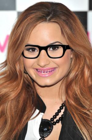 Demi Lovato Rocks Braces and Glasses!