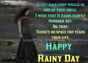 Happy rainy day from gothic girl