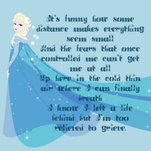 Frozen - Elsa quote