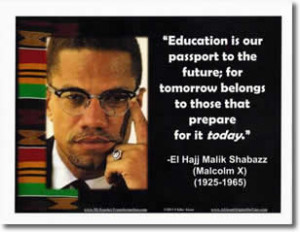 Poster: Malcolm X Quote