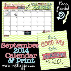 september 2014 calendar when i make a new calendar every month it ...