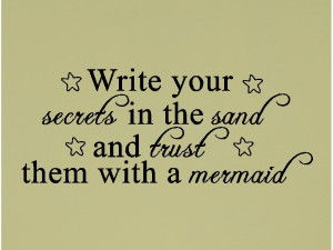 write your secrets in the sand beach quotes wall words decal lettering