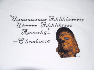 Full pattern for Chewbacca quote pattern