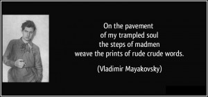 On The Pavement Of My Trampled Soul