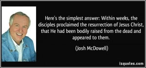weeks, the disciples proclaimed the resurrection of Jesus Christ ...