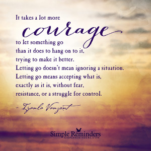Courage to let go by Iyanla Vanzant