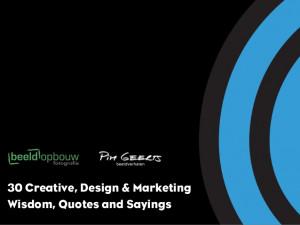 30 best Creative, Design & Marketing Quotes