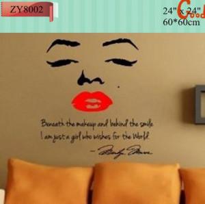 Sourire maquillage. marilyn monroe devis autocollants en vinyle mur ...