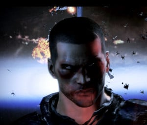Commander Shepard battered and bruised decides the fate of the ...