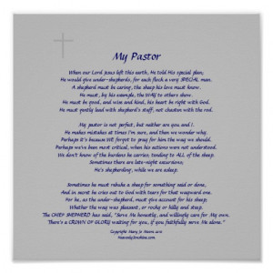 My Pastor Poster