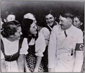 Hitler pretends he likes the girls