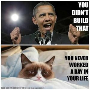 ... grumpy today. But this lifted my spirits. Grumpy Cat 10, Obama ZERO