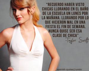 taylor swift #spanish quotes #citas #español #q